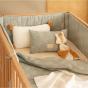 Bedbumper Nest - White gatsby & Antique green