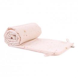 Bedbumper Nest - Gold stella & Dream pink
