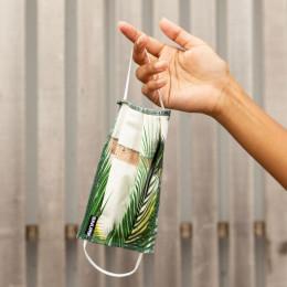 Mondkapje in bio-katoen - Palm Beach