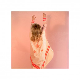 Superhelden kostuum in velvet - Bloom pink