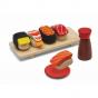 Houten sushi set