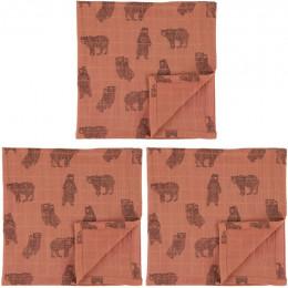 Tetra doeken - 55x55cm - 3pcs - Brave Bear