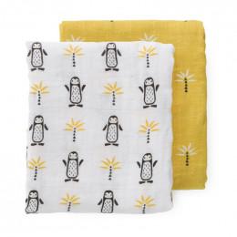 Set van 2 tetradoeken Pinguin - 70 x 60 cm