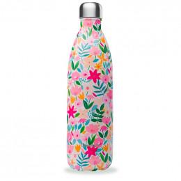 Gourde bouteille nomade isotherme - 1 litre - Flora rose