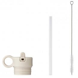 dop met rietje & borstel voor Anker drinkfles - Sandy