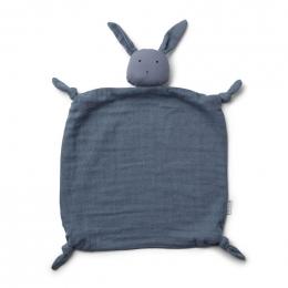 Agnete knuffeldoekje - Rabbit blue wave