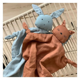 Agnete knuffeldoekje Rabbit - sea blue