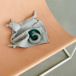 Agnete knuffeldoekje - Hippo dove blue