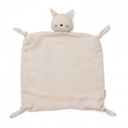 Agnete knuffeldoekje - Cat beige beauty