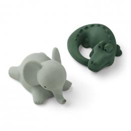 Vikky badspeeltjes - 2-pack - Safari green mix