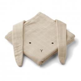 Set Hannah tetradoeken - 2 pack -  Rabbit sandy