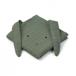 Set van 2 Hannah tetradoeken Rabbit faune green