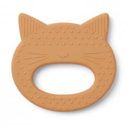 Schattige Gemma bijtring - Cat mustard