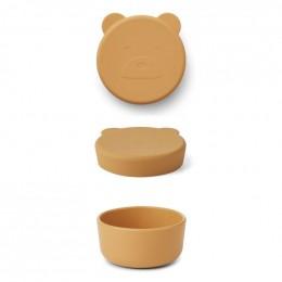 Carrie snackdoosje - Mr bear yellow mellow