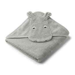 Albert badcape - Hippo dove blue