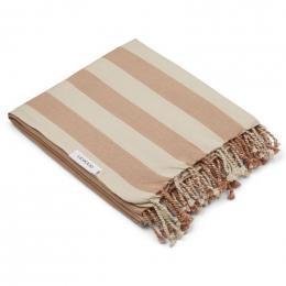 Mona strandhanddoek - Y&D stripe: Tuscany rose&sandy