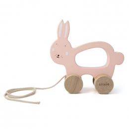 Houten trekspeeltje - Mrs. rabbit