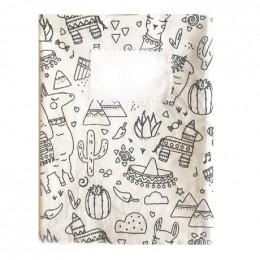 Protège cahier en tissu lavable - A5 - Lama