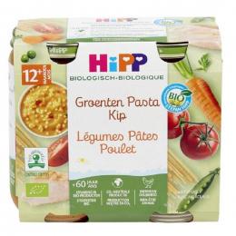 Groenten pasta kip Bio vanaf 12 maanden 2 x 250 g