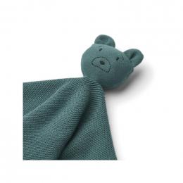 Milo knuffeldoekje - Mr bear whale blue