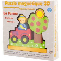 Magnetische houten 3D-puzzel - De Boerderij - Vanaf 10 maanden
