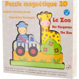 Magnetische houten 3D-puzzel de Dierentuin Vanaf 10 maanden