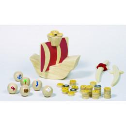 PiratenspelKapiteinKoog,53 stuk,in een katoenen zak vanaf 5 jaar